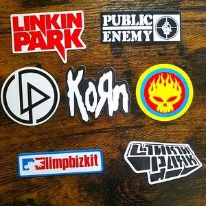 7pc Decals Linkin Park KORN Public Enemy OFFSPRING